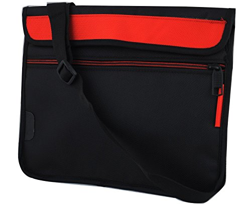Saco Stylish Soft Durable Pouch for HP Pavilion x2 Detachable 10-n028TU (N4G37PA) (2- in- 1) Laptopwith shoulder strap