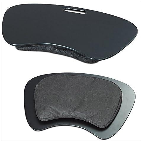 Laptopauflage Notebookablage Knietisch Kunststoff schwarz ergonomisch mit Tragegriff