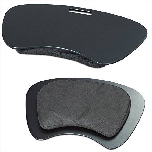 Soporte para regazo Mesa multiusos para portátil hasta 19' - Negra con agarradera