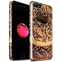 STUFF4 Lucidare Duro Snap On Custodia/Cover/Caso/Cassa del Telefono per Apple iPhone 7 Plus / Caramella (Finiture In Pelle Caramella)