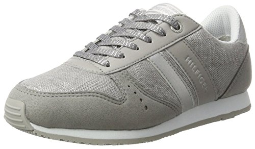 Tommy Hilfiger Mädchen J3285aimie 14c1 Low-Top Silber (Argento)