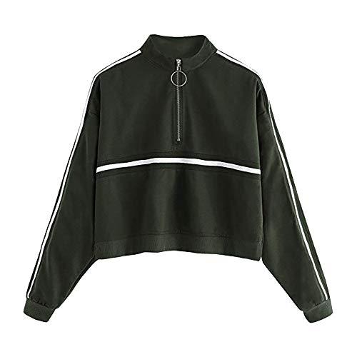 Sweatshirt Damen,Innerternet Female Zipped Jacket Sweatjacke Pulli Pullover Rollkragen Sweatshirt...