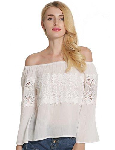 Ma Coquette -  T-shirt - Maniche lunghe  - Donna Bianco