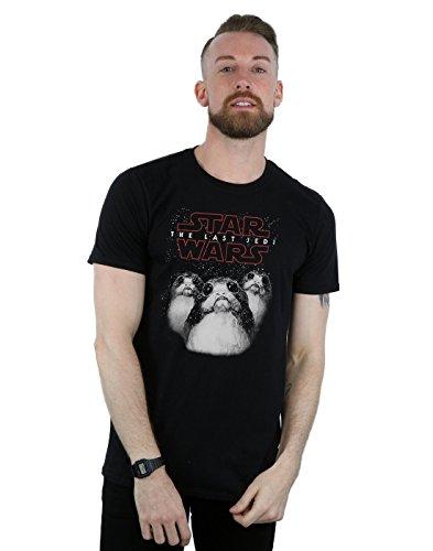 Star Wars Herren The Last Jedi Porgs T-Shirt Schwarz
