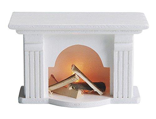 Preisvergleich Produktbild Kahlert Licht 41663 - Minipuppenzubehör - Kamin, halb weiß