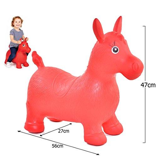 Caballito inflable, suave, flexible, juguetes de ejercicio para niños y niñas, de...