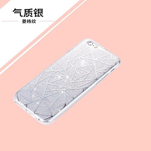 """iPhone 6sPlus Schutzhülle, iPhone 6Plus Case Twinkler Series CLTPY Klar Dünne Weiche Silikon Gel-Abdeckung Etui mit Durchsichtig Muster für 5.5"""" Apple iPhone 6Plus/6sPlus (Nicht iPhone 6/6s) + 1 x Sch Silber Dreieck"""