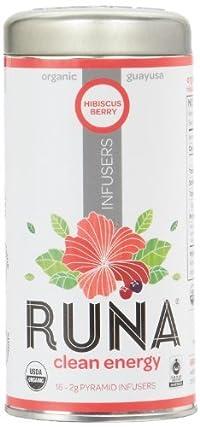 RUNA Amazon Guayusa Pyramid Infusers, Hibiscus-Berry, 16 Count