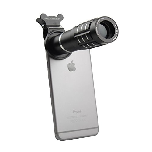 PIGE PICKOGEN Universal-Handy-Teleobjektiv 12x-Zoom-Kamera-Teleskop-Objektiv