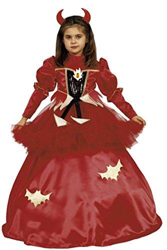 Ciao-Prinzessin Red Fantasy 3in 1Kostüm Mädchen 4-6 anni