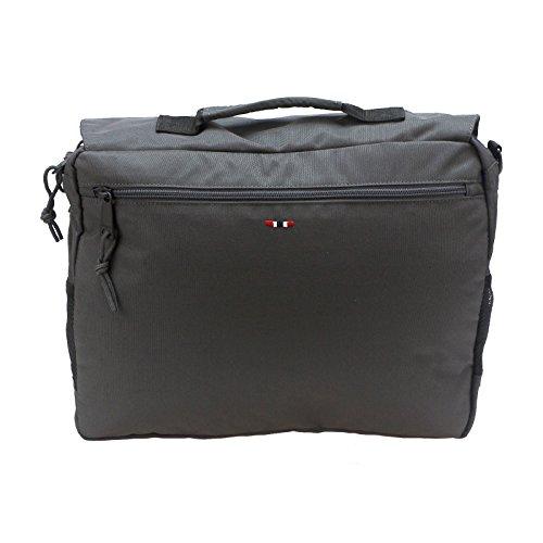 Napapijri Unisex-Erwachsene Hudson Messenger Umhängetasche, 10 x 38 x 30 cm Grau (Dark Grey Solid)
