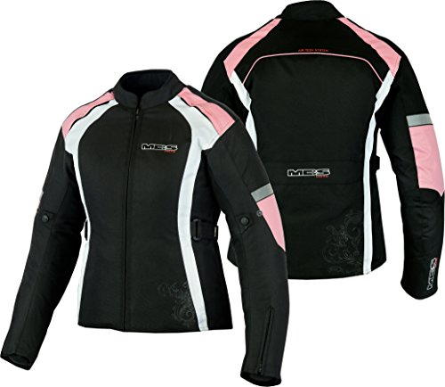 MBSmoto MJ24 Damen Motorrad Motorradjacke Touring Wasserdichte winddichte Textiljacke (Baby Pink, 3XL)