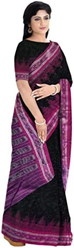 ODISHA HANDLOOM Women's Sambalpuri Cotton Saree Without Blouse Piece (grpn jhr_Gr
