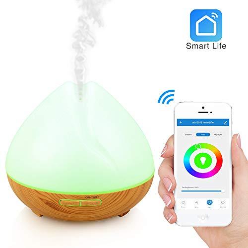 Wi-Fi Humidificador difusor aceite esencial 400ml-Amazon