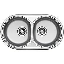 Doppelwaschbecken Edelstahl suchergebnis auf amazon de für doppelspüle