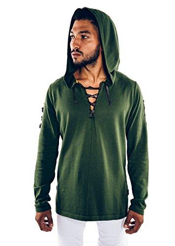 Musterbrand-Zelda-Strick-Pullover-Herren-Link-Cape-Strick-Sweatshirt-Grn