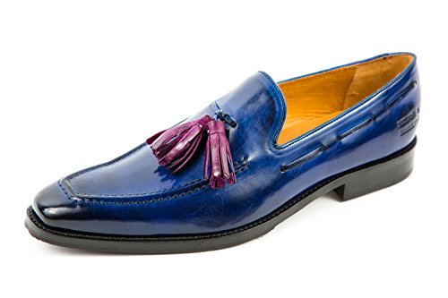 Melvin & Hamilton Herren Leonardo 1 Loafer Slipper Blau Gr. 41 (Loafer Hamilton)