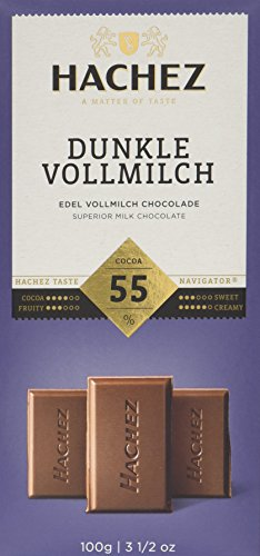 Hachez Tafel Dunkle Vollmilch 55%, 5er Pack (5 x 100 g)