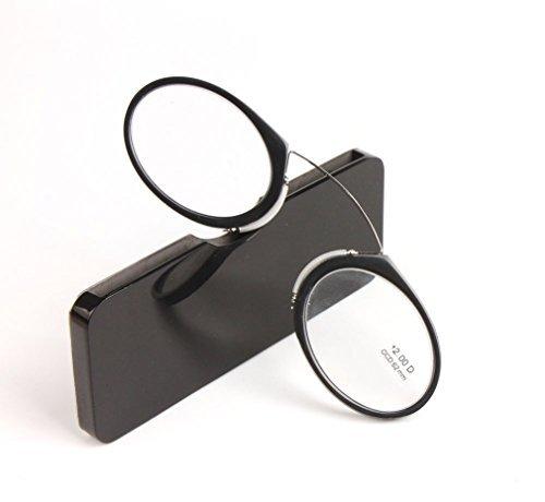 Preisvergleich Produktbild Amomoma Reading Glasses TR90 Frame Portable Emergency Anywhere,  Go Everywhere Reading Glasses plus Universal Pod Case AM6002C1 Black frame / 1.0 Strength by Amomoma