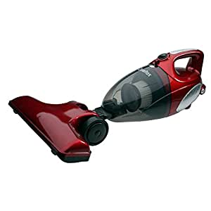 Qualtex 2 in 1 Upright & HandHeld Bagless Compact Lightweight Vacuum Cleaner Hepa Multi Use Hoover In Hot Red