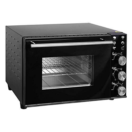 Woltu bf02sz forno elettrico ventilato fornetto con luce interna accessori 1800w 30l nero