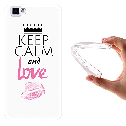WoowCase Cubot X15 Hülle, Handyhülle Silikon für [ Cubot X15 ] Keep Calm and Love Handytasche Handy Cover Case Schutzhülle Flexible TPU - Transparent
