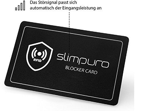 RFID Blocker Schutzkarte - Störsender - Eine Karte schützt Ihre gesamte Geldbörse vor Datendiebstahl – Nie wieder einzelne Schutzhüllen für NFC Bankkarte, Ausweise, Kreditkarte, EC-Karte, Reisepass