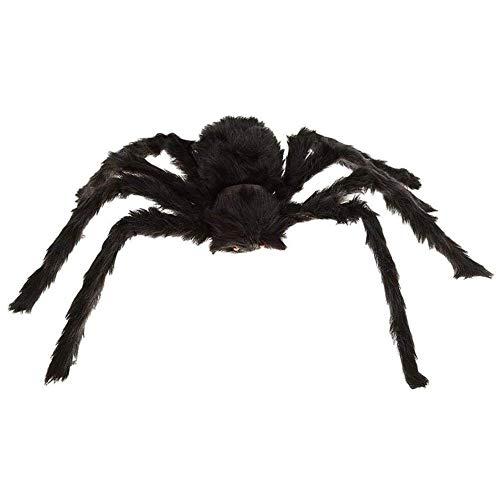 Snow Island 1Stück Schwarz groß Spider Plüsch Spielzeug Kriechen Trick Treat Halloween Party Scary Dekoration Haunted House Prop Indoor Outdoor Yard Decor