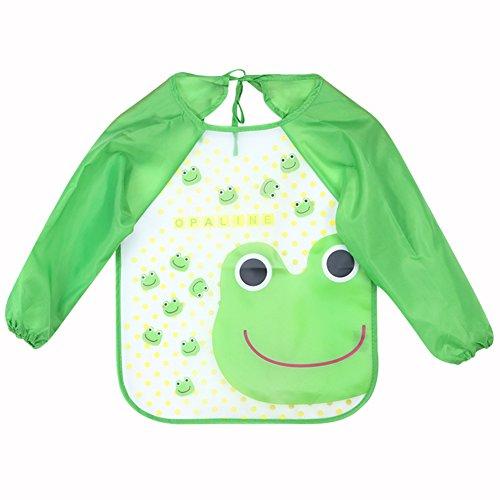 tbs-baby-childrens-long-sleeve-waterproof-clothing-cover-bib-x-2-pack-green-frog