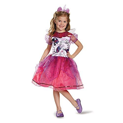 Disguise 83332L Twilight Sparkle Deluxe Costume, Small (4-6x) (Halloween-kostüm Twilight Sparkle)