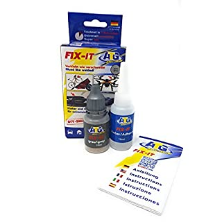 ATG FIX-IT - Industrial Adhesive for Home Use, Heat Resistant and Waterproof - Superglue with Grey Powder.