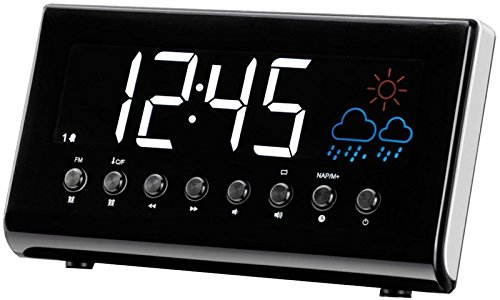 Denver CR EP-718Orologio Radio (sveglia, PLL Radio FM, display 3,5cm (1,4pollici), previsioni meteo, temperatura interna)