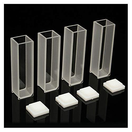 PerGrate 4 Stücke Sichtbare Küvette Zelle 3,5 ml 10mm Quarz/Glas Spektrometer Micro Optische...