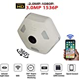 Douper Alle Neue Dome Kamera 360 Grad Panorama Monitor 3,0 Millionen Pixel 1536 P HD Fisheye Kamera für IOS Android App Remote Home Smart Security System