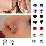 5mm Kristall Magnetische Ohrstecker Magnet Nase Ohr Lip Stud Nicht Piercing Tragus Nase Stud 8 Paare/paket Changlesu (8 Paar Weiß)