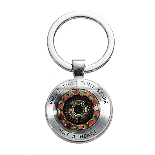 Inveroo Iron Man Tony Stark Keychain Marvel The Avengers 4 Endgame Quantum Realm Series Key Ring Car Key Chain Holder Porte Clef 2019