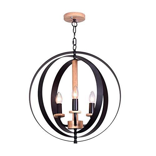 Anad Industrielle Vintage Retro LOFT Stil schmiedeeisen Metall Globus Käfig Runde Pendelleuchte Leuchte Pendelleuchte Kronleuchter