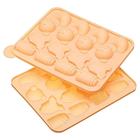 Sweetly Does It Silicone Sixteen Hole Two Part Baby Themed Cake Pop Baking Pan
