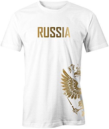 20642953a279e7 Jayess WM 2018 - Russland - Russia - Adler Gold - Fanshirt - Herren T-