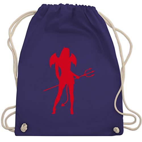 Halloween - Sexy Teuflin - Unisize - Lila - WM110 - Turnbeutel & Gym Bag