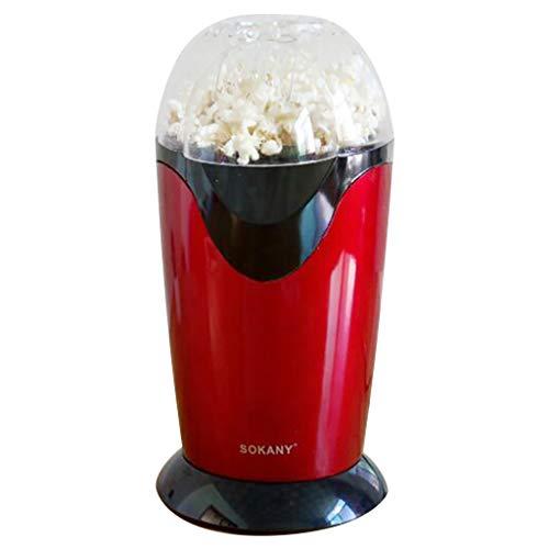 jfhrfged Popcorn-Maschine Automatische Mini Freizeit Selbstgebrauch Haushalt Party Red Convenience