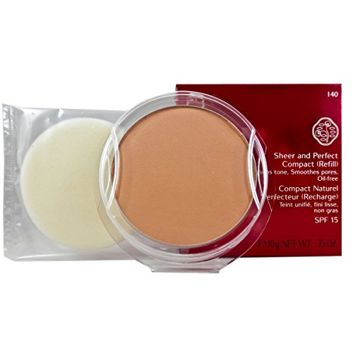 Sheer Finish Compact Foundation (Shiseido Sheer und Perfect Compact Refill unisex, Puder Foundation 10 g, Farbnummer: I40 fair ivory Refill, 1er Pack (1 x 0.208 kg))