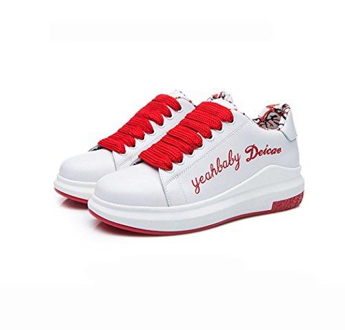 XTIAN , Chaussures à lacets femme Rouge