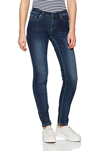 Big Star Denim Damen Straight Jeans Katrina Regular Hoher Bund, Blau (Dark Wash 447), W29/L32 (Damen Star Jeans)