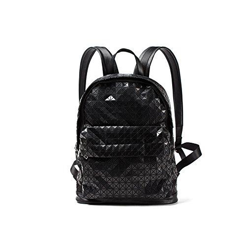 HYP einfachen Damen Tasche Handtasche Tasche Schultertasche Messenger Bag Schultasche Argyle geometrische double Umhängetasche, schwarz