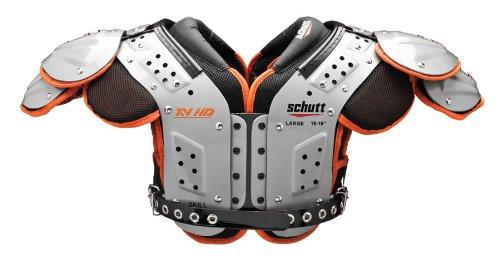 Schutt Sports Varsity XV HD Skill Schulterpolster, Herren, silver/black/orange