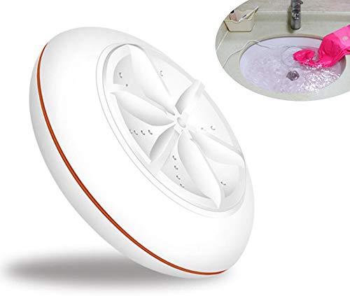 VOVIJ Lavadora de turbina por ultrasonidos, Carga por USB, Servicio de lavandería portátil Adecuado para Limpiar Ropa, Joyas, Relojes, maquinillas de Afeitar (Color : Naranja)