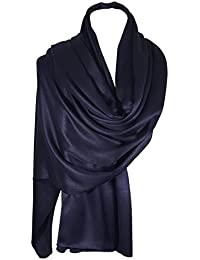 World of Shawls Luxuriously Smooth and Silky Large SATIN Shawl / Scarf / Wrap / Throw Wedding, Bridal, Bridesmaid, Cover Up