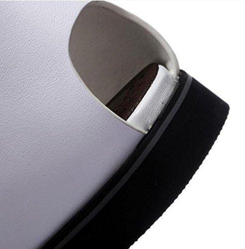 Beauqueen OL Casual Donna Sandali Cinturino alla caviglia Sandali con fibbia aperta alla punta Taglia UE 34-39 White