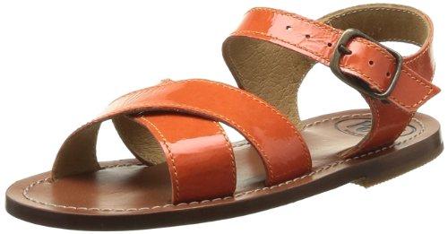 Pèpè  01252 Vesc,  Sandali ragazza Arancione Orange (Vernice Carota) 30